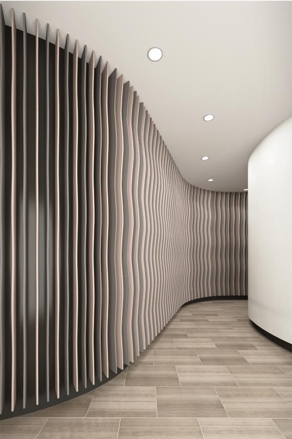 Alpha Acoustic wall fins acoustic baffles